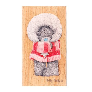 Stempel gumowy Winter Wonderland - otulony miś