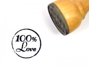 "Gumka do stempla ""100% Love"""