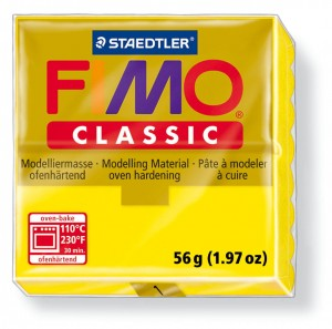 Fimo classic yellow 1