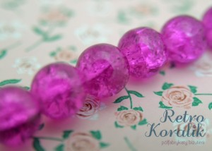 Koralik crackle biskupi 14 mm